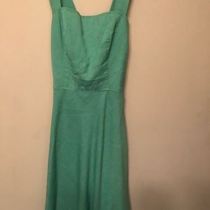 Vintage 1960s Green Picnic Dress Size Small